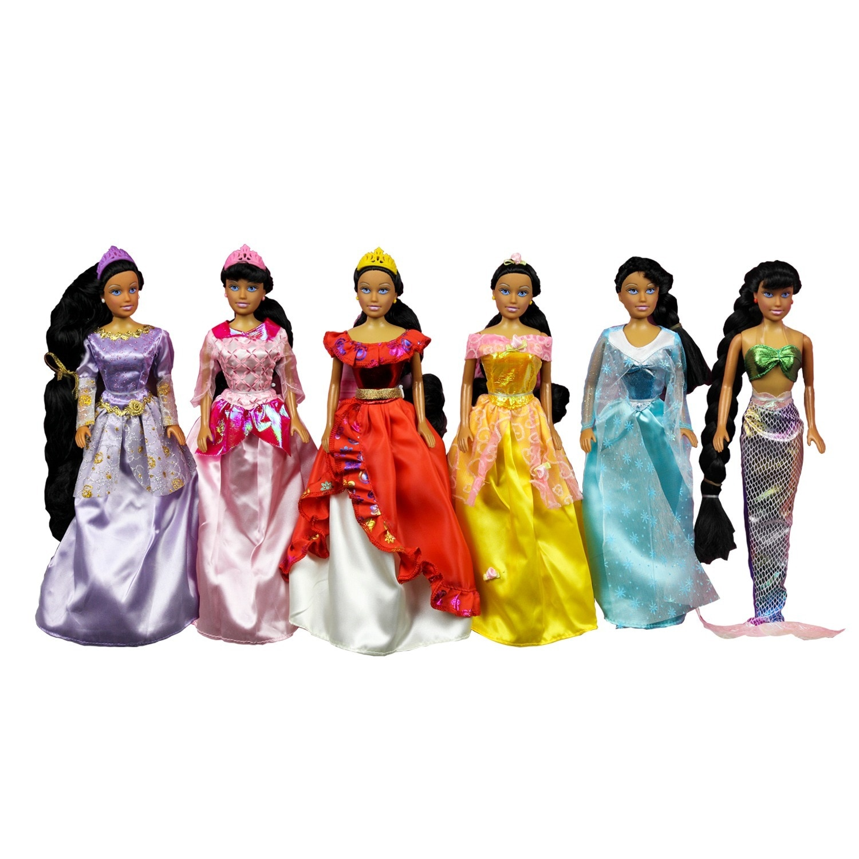 Fairy Tale Princess 6-piece Princess Doll Collection (6Pk...
