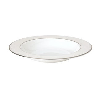 Lenox Opal Innocence Stripe Pasta/ Rim Soup Bowl