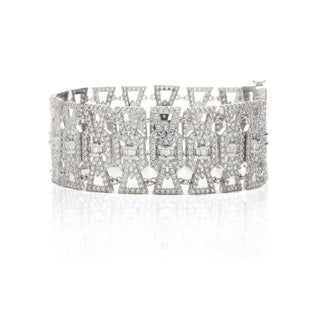 Blue Box Jewels Rhodium-plated Silver CZ 7.25-inch Link Bracelet