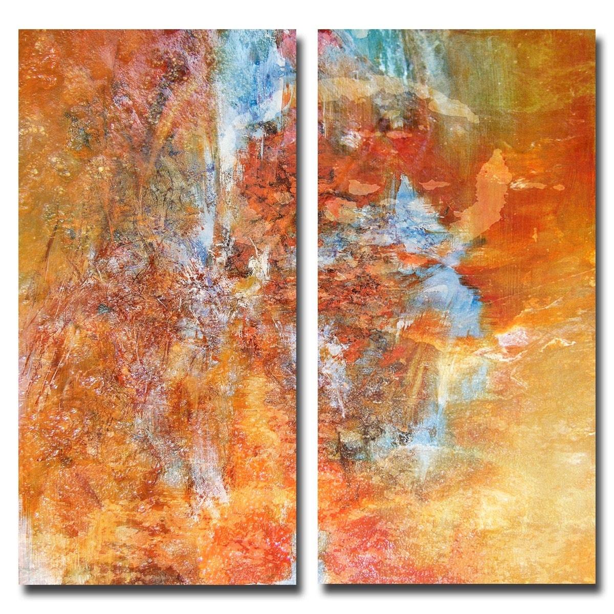 Ready2hangart Born2BWild I 2 Piece Canvas Wall Art Set 40 x 40