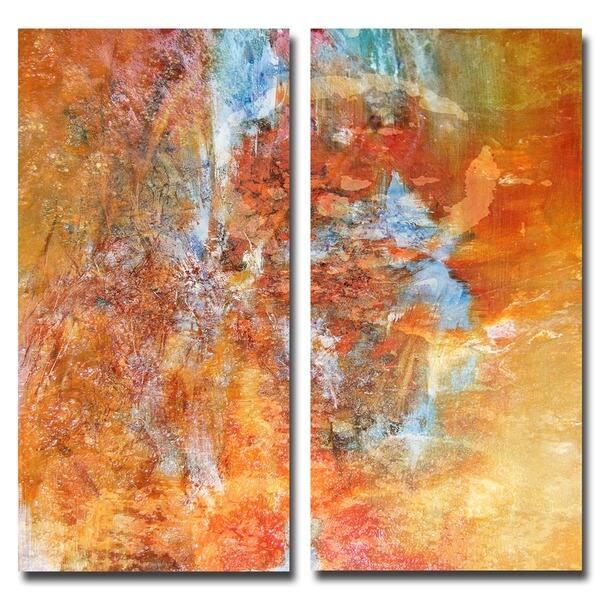 Ready2hangart Abstract 2 Pc Canvas Wall Art