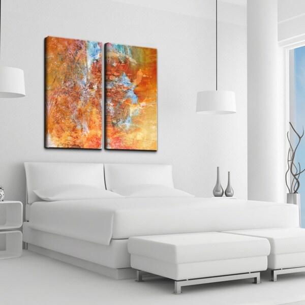 Ready2hangart Abstract Large Canvas Wall Art 2 Piece Set