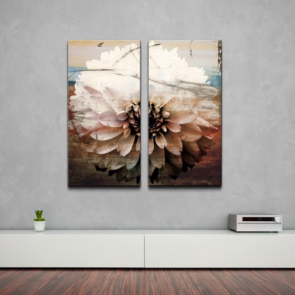 Ready2HangArt 'Daisy' Oversized Canvas Wall Art (Set of 2). Opens flyout.