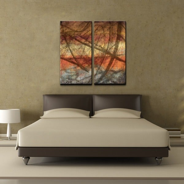 Ready2HangArt 'Abstract' Over-sized Canvas Wall Art (Set of 2). Opens flyout.