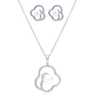 Blue Box Jewels Rhodium-plated Silver EQ Star Cubic Zirconia/ Simulated Pearl Jewelry Set https://ak1.ostkcdn.com/images/products/8403089/Blue-Box-Jewels-Rhodium-plated-Silver-EQ-Star-Cubic-Zirconia-Simulated-Pearl-Jewelry-Set-P15703703.jpg?_ostk_perf_=percv&impolicy=medium