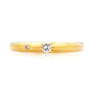 Blue Box Jewels Goldplated Silver Premium EQ Star Bezel-set Cubic Zirconia Ring
