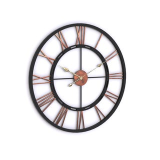 Porch & Den Blackstone Wayland Aged Copper and Black Wall Clock