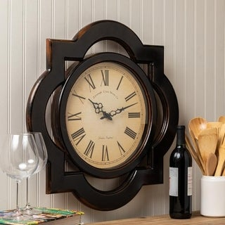 "Oversized 23.5"" Diameter Wood Wall Clock"