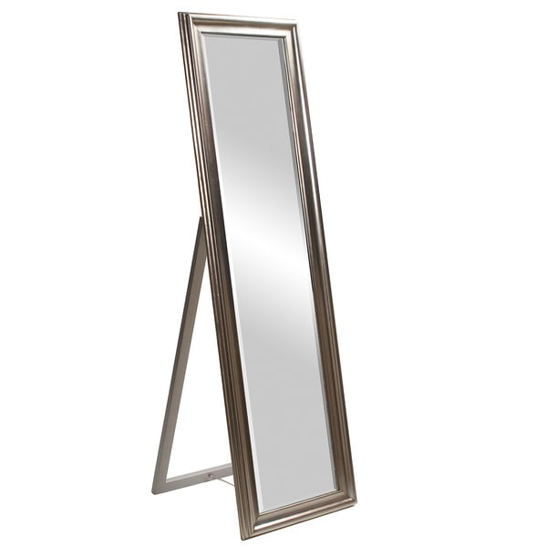 Taylor silver standing mirror free shipping today for Gold stand up mirror