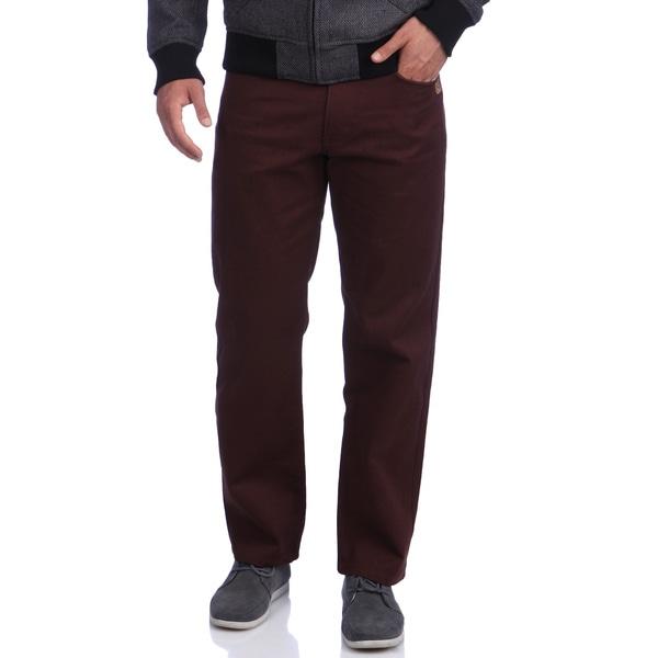 Akademiks Men's 'Culture Color' Burgundy Twill Pants