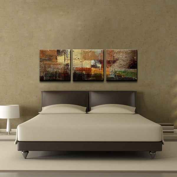 3 Piece Wall Art Set ready2hangart 'etabx i' 2-piece abstract oversized canvas wall art