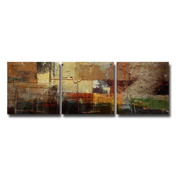 Ready2HangArt Rustic 'Abstract' 3-Pc Canvas Art Set. Opens flyout.