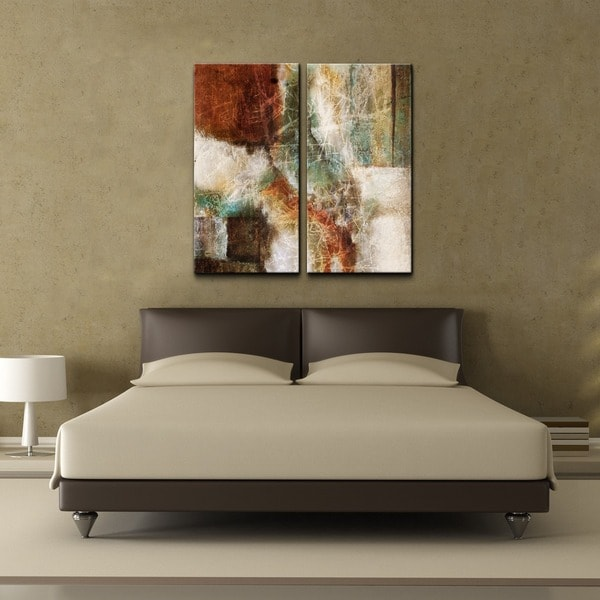Shop Ready2hangart Abstract Over Sized 2 Piece Canvas Wall Art Set