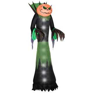 Halloween Airblown Inflatable Pumpkin Head Reaper