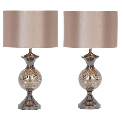 Casa Cortes Lush Mosaic Art Glass 25-inch Table Lamps (Set of 2)