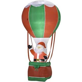 Outdoor Inflatable Santa in Hot Air Ballon