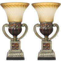 Casa Cortes Parisian Torchiere 22-inch Uplight Table Lamp (Set of 2)