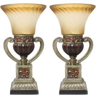 Casa Cortes Parisian Torchiere 22-inch Uplight Table Lamp (Set of 2)