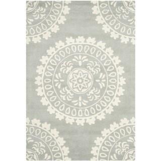 Safavieh Handmade Bella Grey/ Ivory Wool Rug (4' x 6')