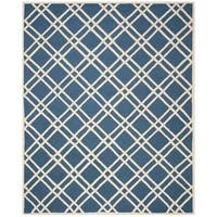 Durablle Safavieh Handmade Moroccan Cambridge Navy/ Ivory Wool Rug - 8' x 10'