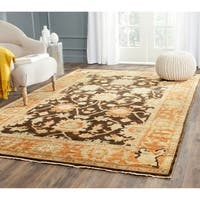 Safavieh Oushak Brown/ Rust Hand-knotted Wool Area Rug - 4' x 6'