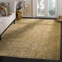 Safavieh Hand-knotted Oushak Beige/ Rust Wool Rug - 4' x 6'