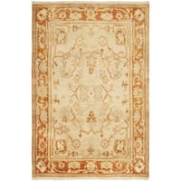 Safavieh Hand-knotted Oushak Ivory/ Rust Wool Rug - 4' x 6'