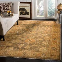 Safavieh Hand-knotted Oushak Brown/ Rust Wool Rug - 4' x 6'