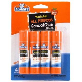 Elmer's Washable All Purpose School Glue Sticks 4/Pack