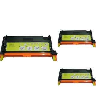 INSTEN Yellow Cartridge Set for Dell 3130 (Pack of 3)