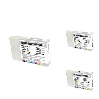 INSTEN Epson T543400 Yellow Cartridge Set (Remanufactured) (Pack of 3)