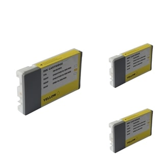 INSTEN Epson T6034Y 220ml Yellow Cartridge Set (Remanufactured) (Pack of 3)