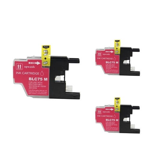 Refilled Insten Magenta Non-OEM Ink Cartridge Replacement for Brother LC75M/ LC71M
