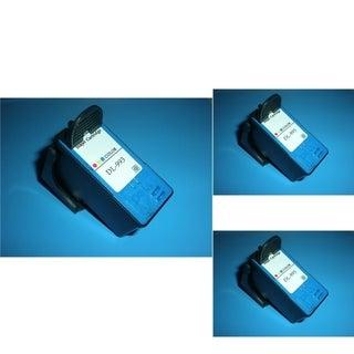 INSTEN Dell MK993 Color Cartridge Set (Remanufactured) (Pack of 3)