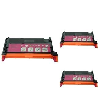 INSTEN Magenta Cartridge Set for Dell 3130 (Pack of 3)