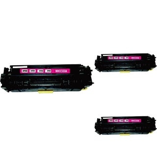 INSTEN Magenta Cartridge Set for HP CC533A (Pack of 3)