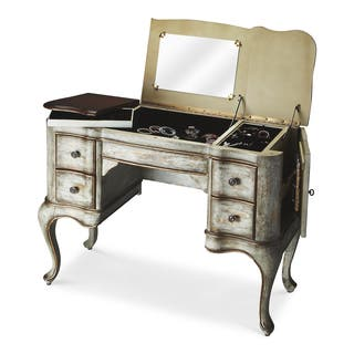 Butler Charlotte Rustic Blue and Cherry Vanity