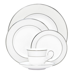 Lenox Opal Innocence Stripe 5-piece Dinnerware Place Setting