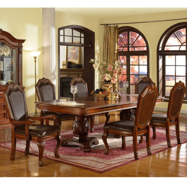 White Dining Room Sets Formal: Shop Cervera 9-piece Formal Dining Set