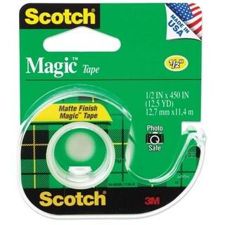 """Scotch Magic Tape w/Refillable Dispenser 1/2"""" x 450"""" Clear"""