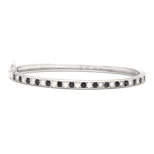 Sunstone Sterling Silver Bangle Bracelet made with Swarovski Zirconia with Gift Box