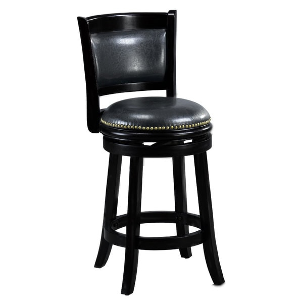 Shop Alexis Black Padded Back 24 Inch Counter Stool