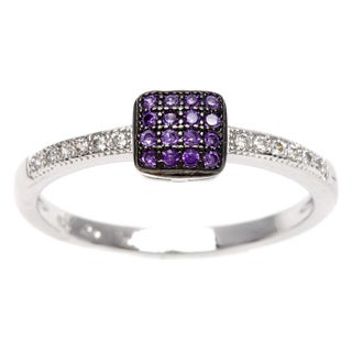 Link to Sterling Essentials Silver Purple Cubic Zirconia Stackable Ring Similar Items in Rings