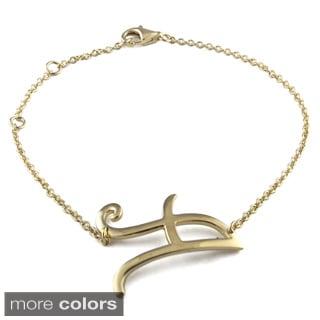 14k Gold over Sterling Silver Initial Bracelet