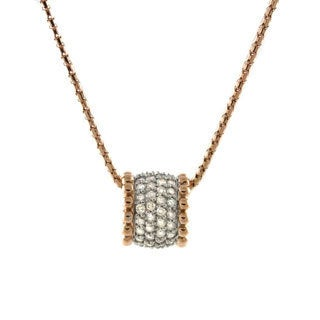Beverly Hills Charm 14k Gold 3/4ct TDW Diamond 'Glitter Barrel' Necklace (H-I, I2-I3)