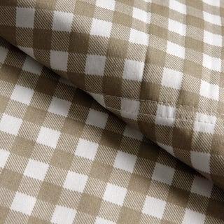Classic 'Harvard' Check 300 Thread Count Cotton Sateen Sheet Set