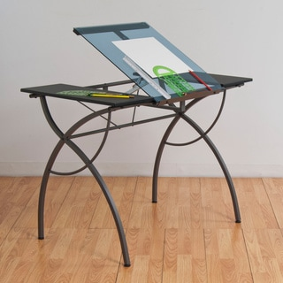 Studio Designs Catalina Glass Drafting and Hobby Craft Table