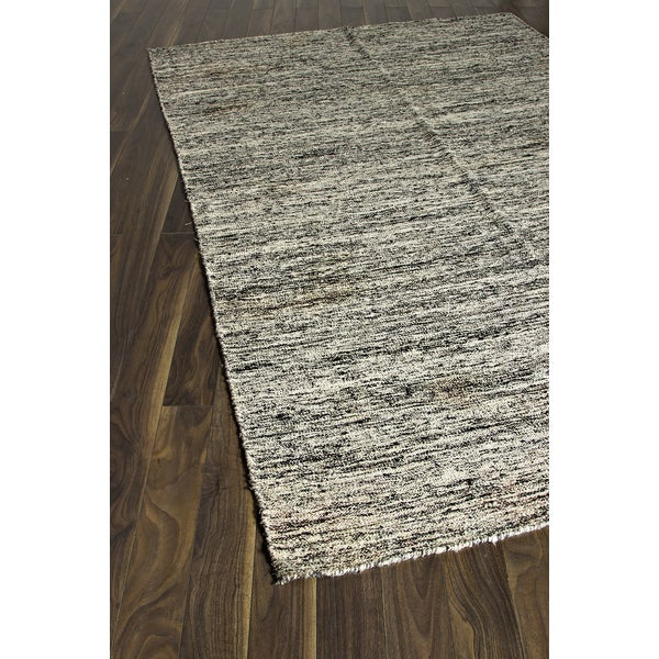 Kilim Rug Cream: Hand-woven Silky Marble Cream Wool Kilim Area Rug (6'1 X 9