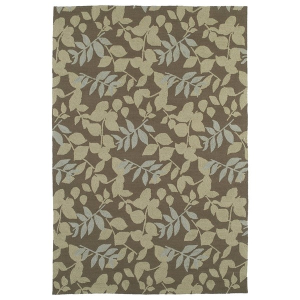 Fiesta Chocolate Indoor/ Outdoor Leaves Rug - 9' x 12'