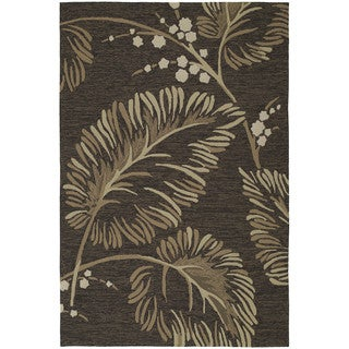 Fiesta Chocolate Indoor/ Outdoor Palms Rug (9'0 x 12'0)